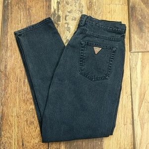 Vintage 80s Made in USA Dark Blue Guess Mom Jeans